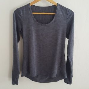 Athleta Space Dye Long Sleeve Running Top M